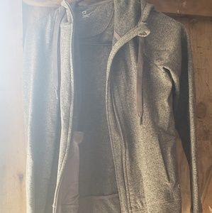 Gray Gap Zip Up Sweatshirt